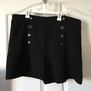 Forever 21+ Black Sailor Nautical Shorts sz 16